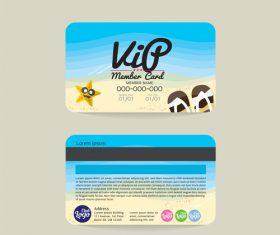 Summer holiday member card template vector
