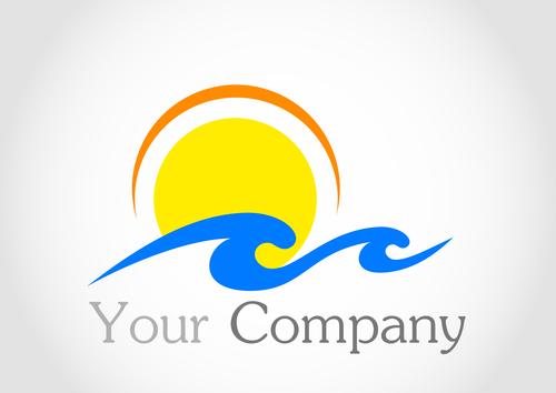 Sun logo design vector 01
