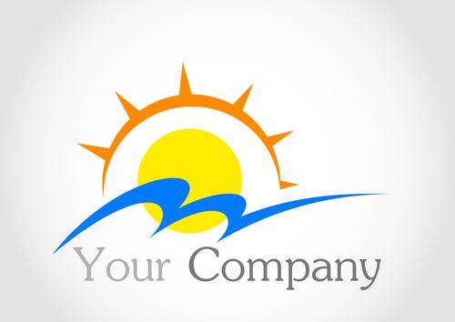 Sun logo design vector 04