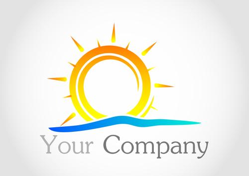Sun logo design vector 05