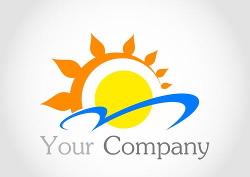 Sun logo design vector 06