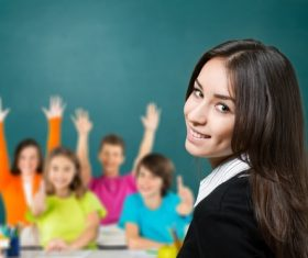 Teachers and students Stock Photo 02