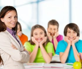Teachers and students Stock Photo 06