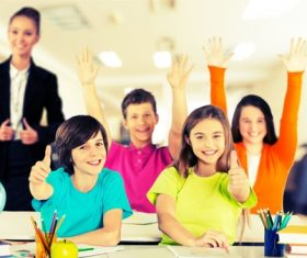Teachers and students Stock Photo 07