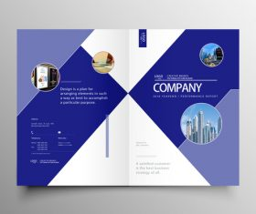 Vector company magazine cover template 03