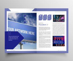 Vector company magazine cover template 05
