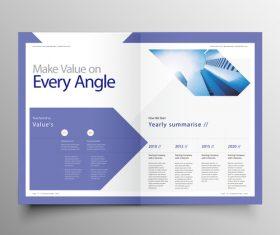 Vector company magazine cover template 06