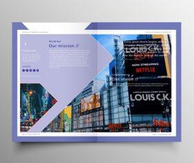 Vector company magazine cover template 07