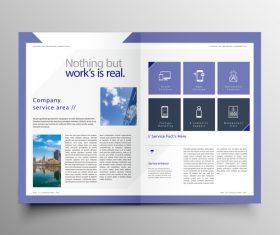 Vector company magazine cover template 08