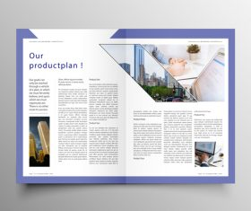 Vector company magazine cover template 09