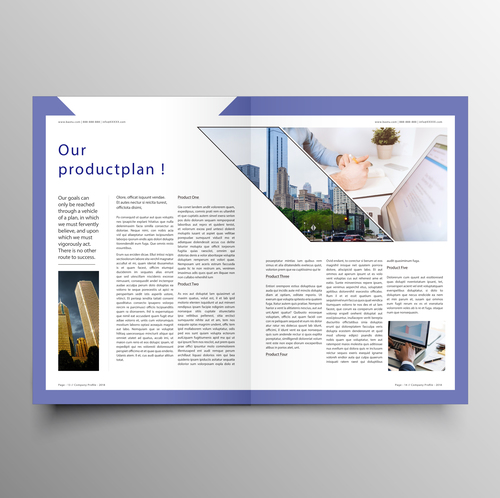 Vector company magazine cover template 09