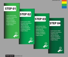 Vertical banners green styles vectors