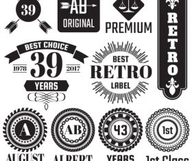 Vintage Badge & Objects vector set 2_01
