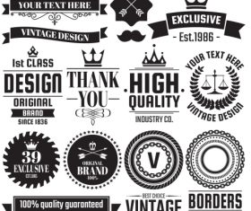 Vintage Badge & Objects vector set 2_02