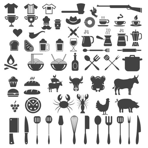 Vintage Badge & Objects vector set 2 05