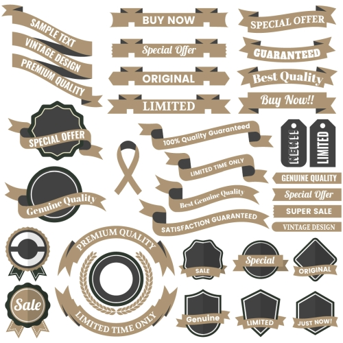 Vintage Badge & Objects06 Vector