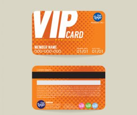 Vip member card template vector 01