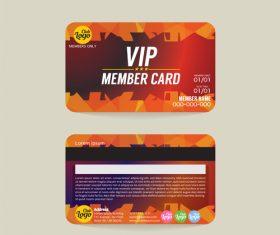 Vip member card template vector 02