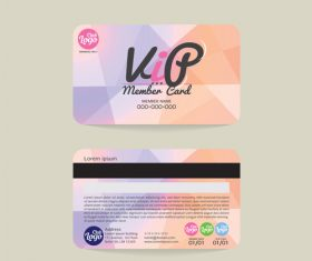Vip member card template vector 03