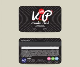Vip member card template vector 05