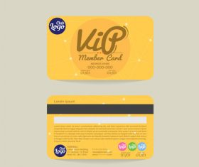 Vip member card template vector 06