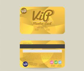 Vip member card template vector 07
