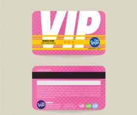 Vip member card template vector 08