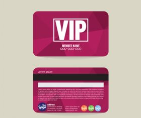 Vip member card template vector 09