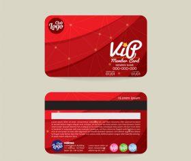 Vip member card template vector 10