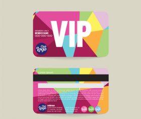 Vip member card template vector 11