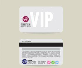 Vip member card template vector 12