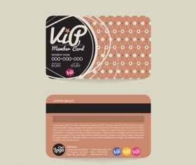 Vip member card template vector 13