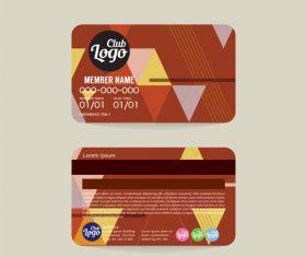 Vip member card template vector 14