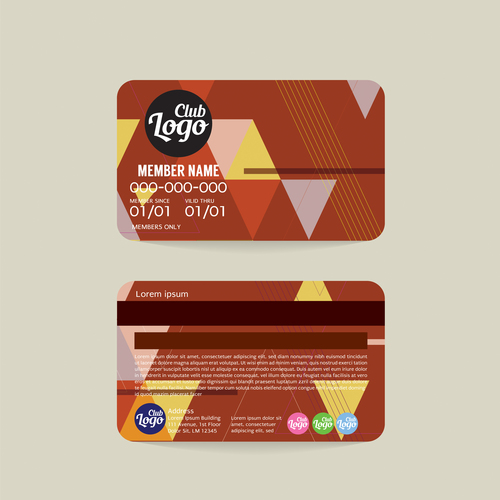Vip member card template vector 14