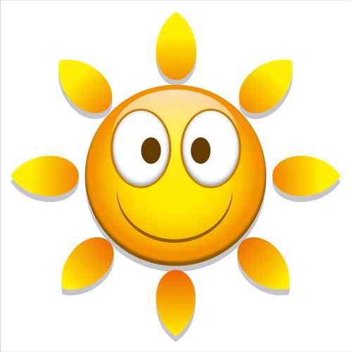 Vivid cartoon sun vector
