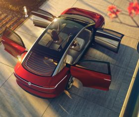 Volkswagen I.D. Vizzion driverless concept car Stock Photo