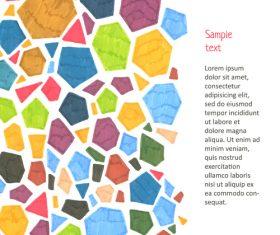 Watercolor polygonal vector background 01