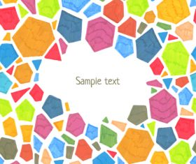 Watercolor polygonal vector background 02