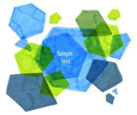 Watercolor polygonal vector background 03