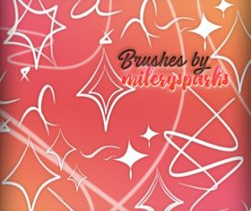 Wavy lines abstract Photoshop Brushes