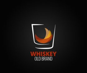 Whiskey logo design vectors 01