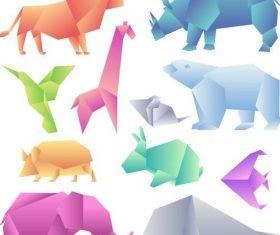 Wild animal origami vector illustration