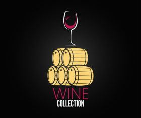 Wine collection logo vector