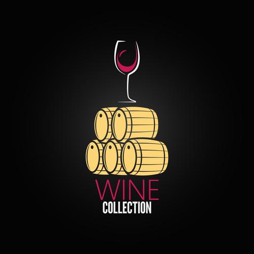 Wine collection logo vector