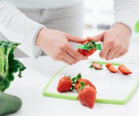 Woman prepare vegetables Stock Photo 01