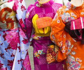 Woman wearing japanese kimono Stock Photo
