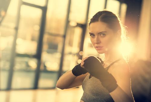 Womens fight Stock Photo