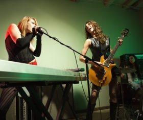 Womens music band Stock Photo