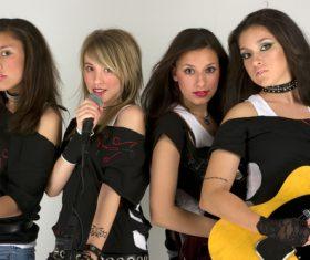 Womens music group Stock Photo