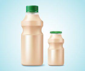 Yogurt drink package design vector 01